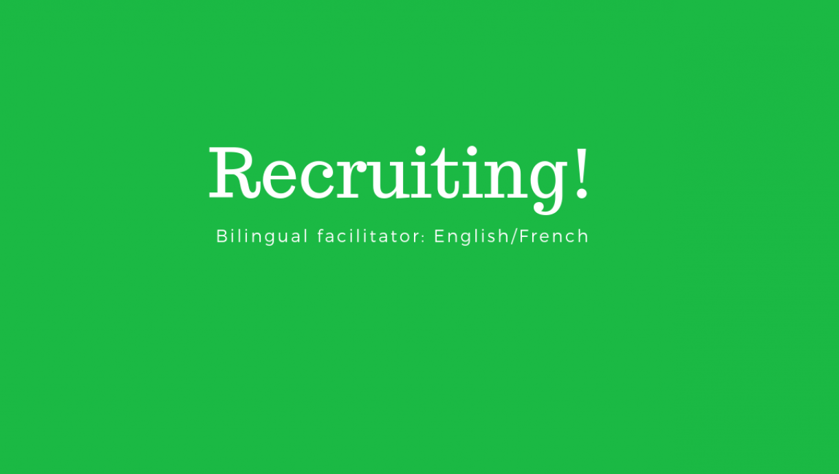 recruiting bilingual facilitator